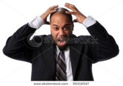 stock photo portrait of african american businessman expressing frustration isolated over white background 59316547